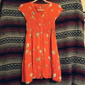 Free People Floral Button-down Summer Dress